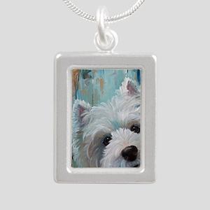 Drip Silver Portrait Necklace