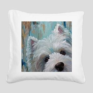 Drip Square Canvas Pillow