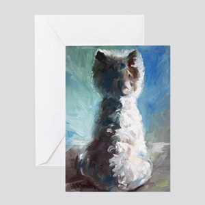 White Shadows Greeting Card
