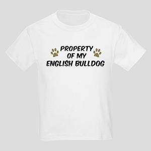 English Bulldog: Property of Kids T-Shirt