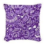 Choir Band Music Gift Woven Throw Pillow