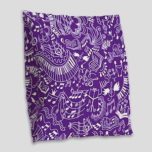 Choir Band Music Gift Burlap Throw Pillow