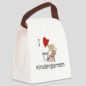 Girl I Love Kindergarten Canvas Lunch Bag