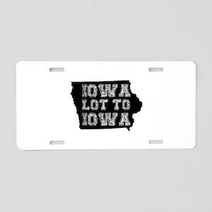 Iowa Lot To Iowa Aluminum License Plate