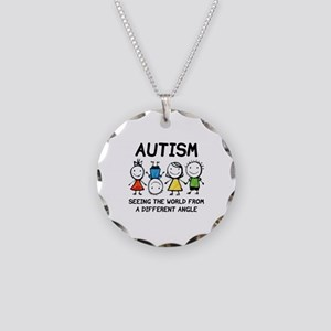 Autism Necklace Circle Charm