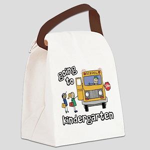 Going to Kindergarten Canvas Lunch Bag