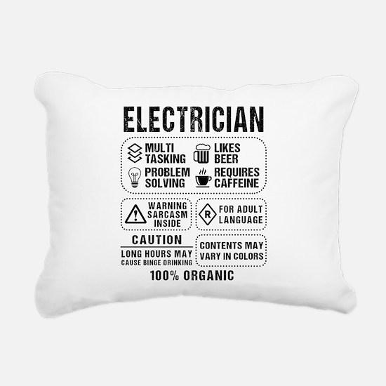 Electrician Rectangular Canvas Pillow