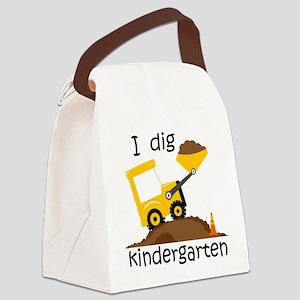 I Dig Kindergarten Canvas Lunch Bag