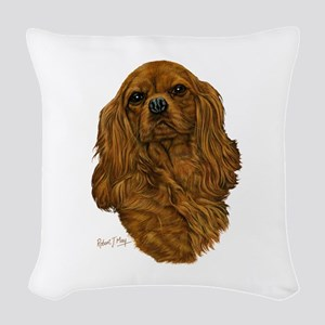 Cavalier King Charles Woven Throw Pillow
