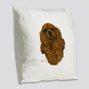Cavalier King Charles Burlap Throw Pillow