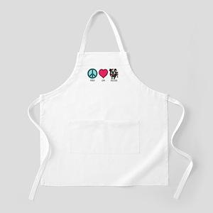 Peace Love & Bulldogs BBQ Apron