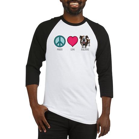 Peace Love & Bulldogs Baseball Jersey