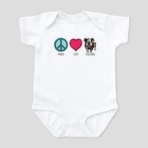 Peace Love & Bulldogs Infant Bodysuit
