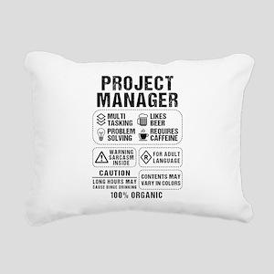 Project Manager Rectangular Canvas Pillow