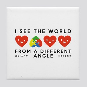 Autism Different Angle Tile Coaster