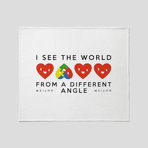 Autism Different Angle Stadium Blanket