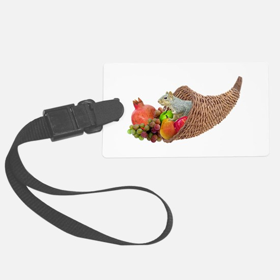 Squirrel in Cornucopia Luggage Tag