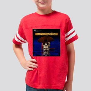Commodore Skull Pirate Tile B Youth Football Shirt