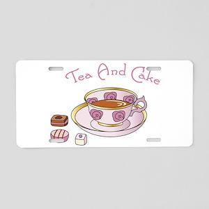 Tea And Cake Aluminum License Plate
