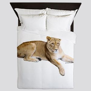 Resting lioness Queen Duvet