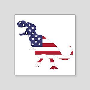 "Tyrannosaurus (United State Square Sticker 3"" x 3"""
