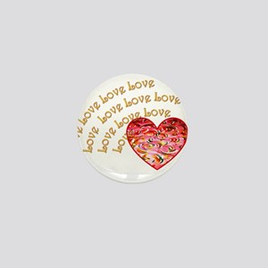 Love Love Love Mini Button