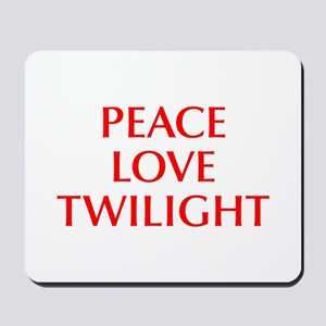PEACE-LOVE-TWILIGHT-OPT-RED Mousepad