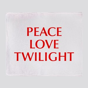 PEACE-LOVE-TWILIGHT-OPT-RED Throw Blanket