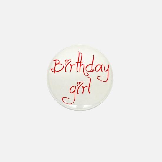 birthday-girl-jel-red Mini Button