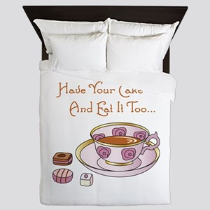 Have Your Cake And Eat It Too Queen Duvet