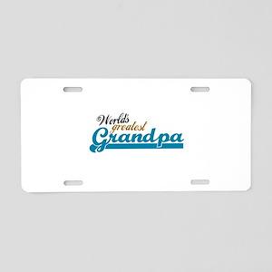 Worlds Greatest Grandpa Aluminum License Plate