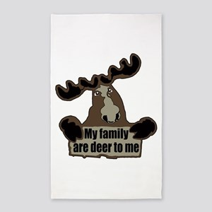 Moose family 3'x5' Area Rug