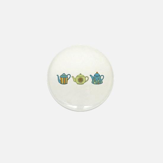 Teapot Border Mini Button
