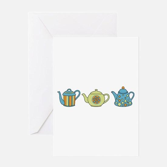 Teapot Border Greeting Card