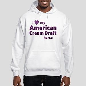 American Cream Draft horse Sweatshirt