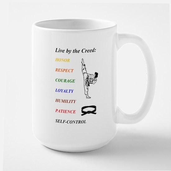 """Live by the Creed"" Large Mug"