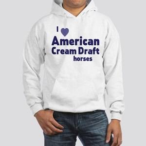 American Cream Draft horses Sweatshirt