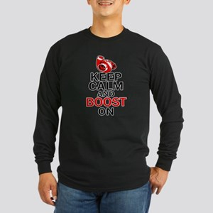 Turbo Boost - Keep Calm Long Sleeve Dark T-Shirt