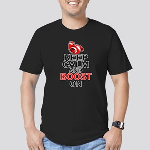 Turbo Boost - Keep Calm Men's Fitted T-Shirt (dark