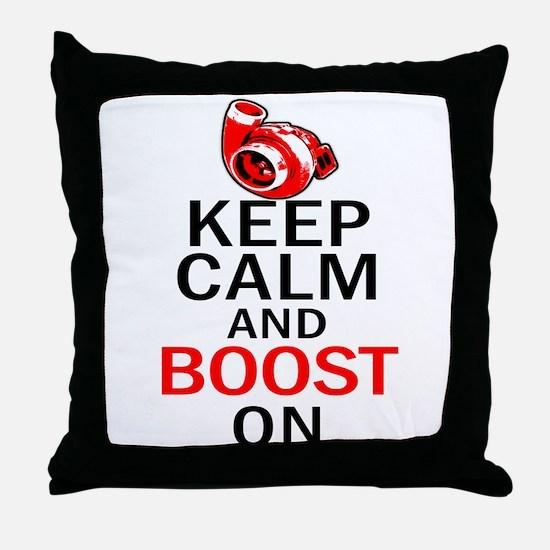 Turbo Boost - Keep Calm Throw Pillow