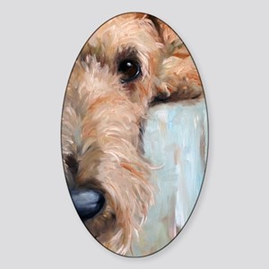 Airedale blues Sticker (Oval)