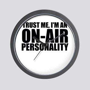 Trust Me, I'm An On-Air Personality Wall Clock