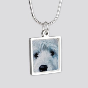 Sweetness Silver Square Necklace