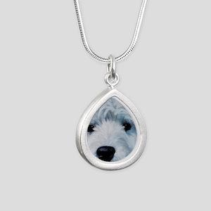 Sweetness Silver Teardrop Necklace