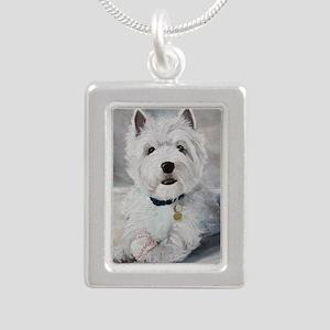 Little Slugger Silver Portrait Necklace