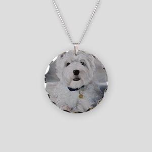 Little Slugger Necklace Circle Charm