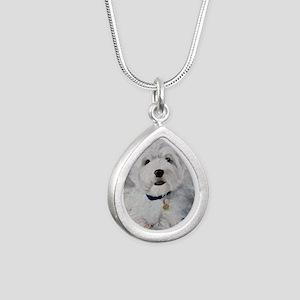 Little Slugger Silver Teardrop Necklace