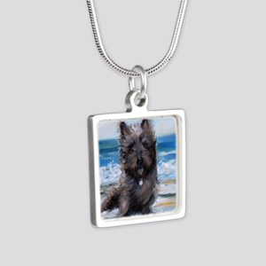 Breezes Silver Square Necklace