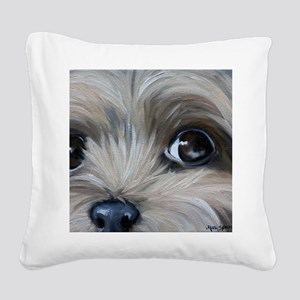 Peeper Square Canvas Pillow