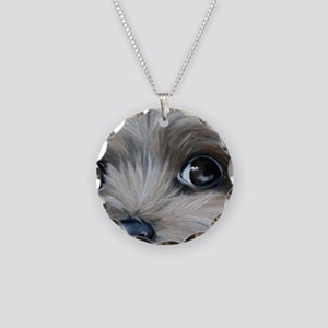 Peeper Necklace Circle Charm
